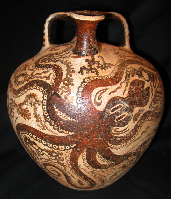 Octopus Stirrup Jar Museum Of Antiquities Arts And Science