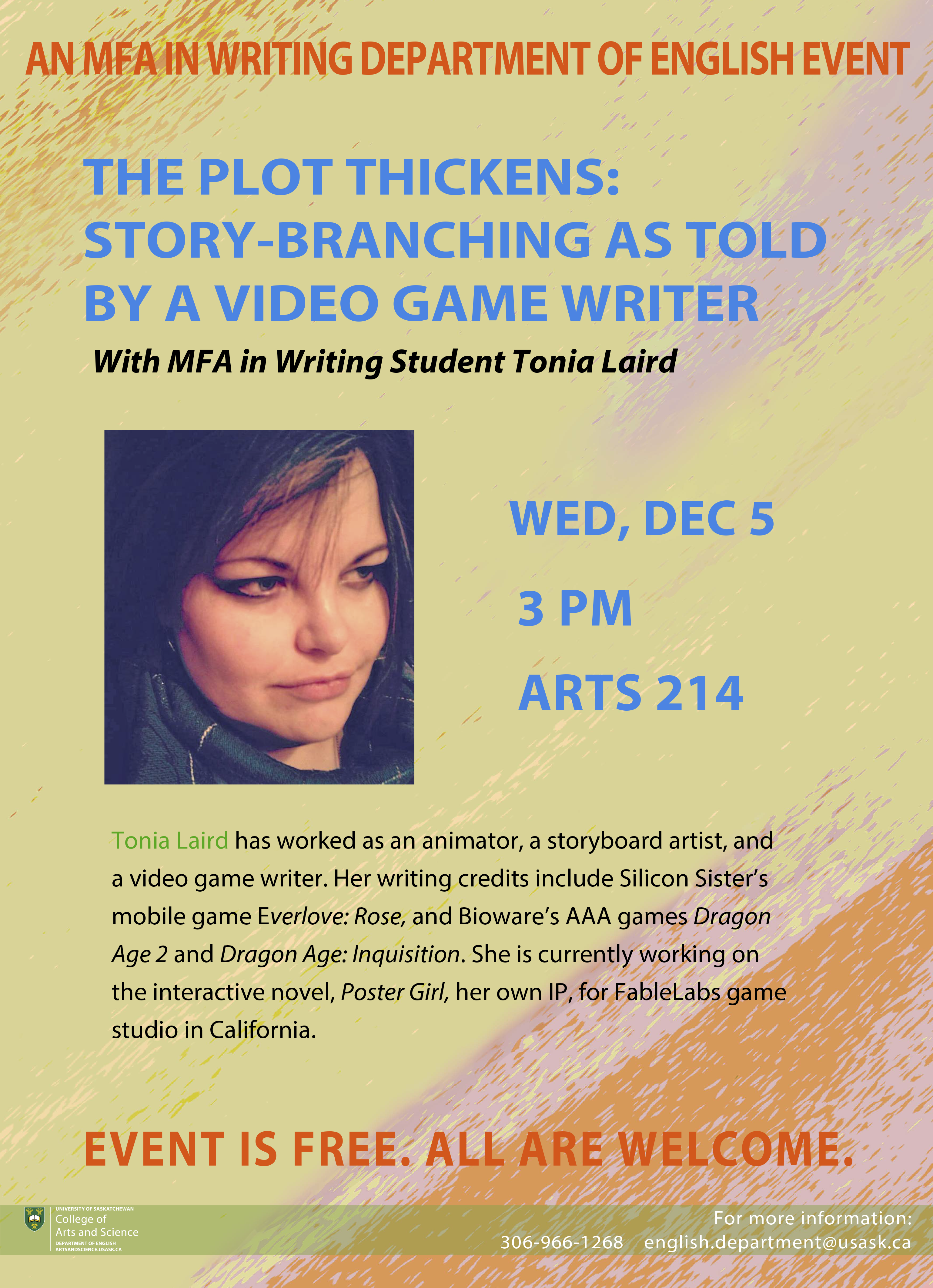 mfa creative writing usask